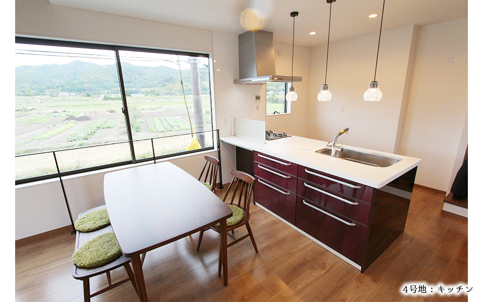 4号地請負モデルハウス:キッチン