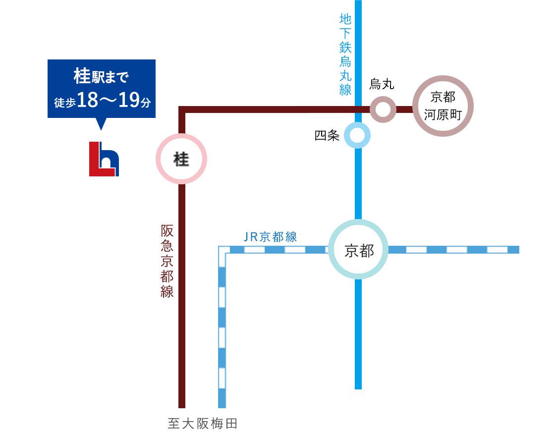 セントフローレンスタウン阪急桂駅西口 路線図