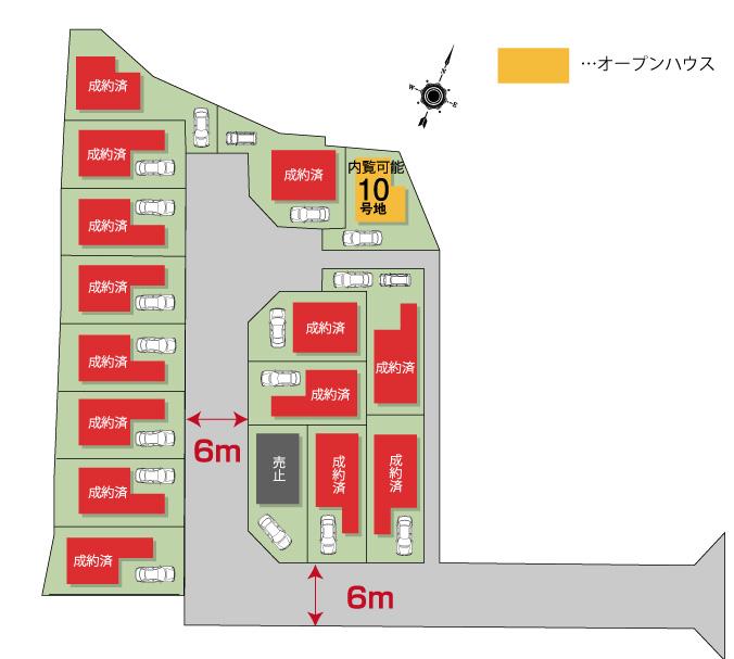 セントフローレンスタウン大枝東長 区画図