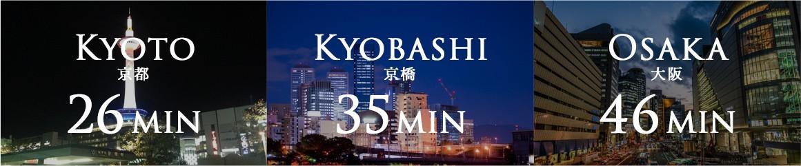 京都26分 京橋35分 大阪46分