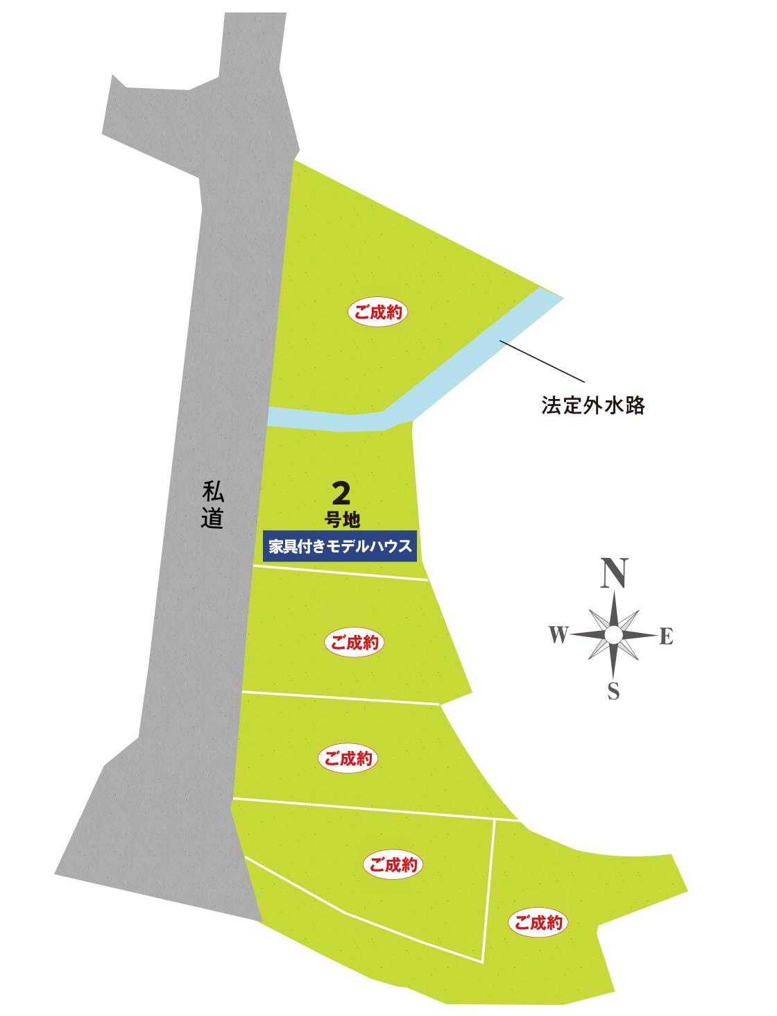 セントフローレンスタウンJR石山駅南 区画図