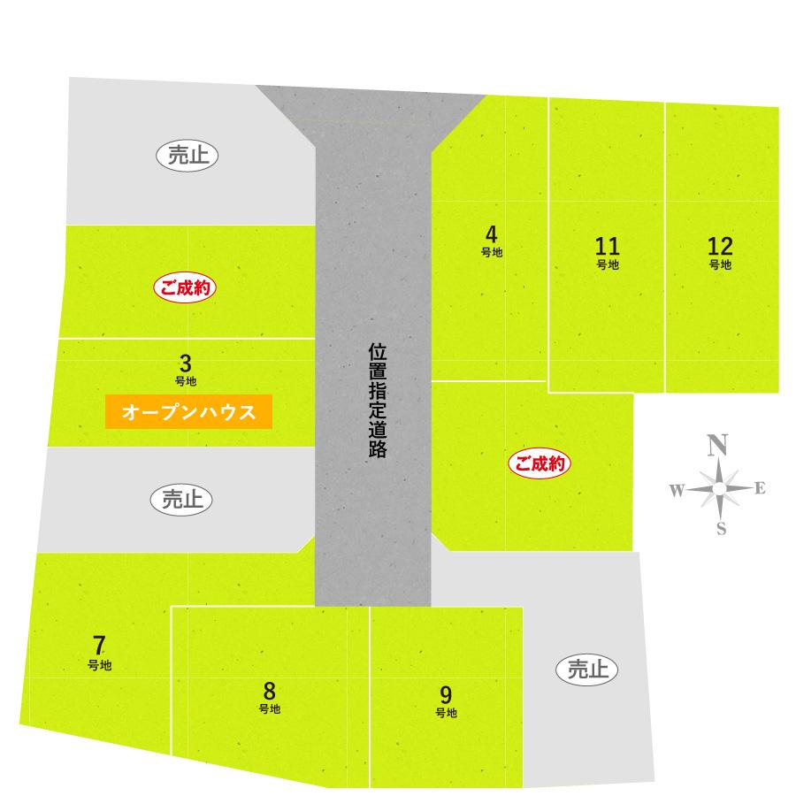 円明寺佃の区画図