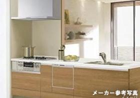 クリナップの食器洗乾燥機付きのシステムキッチン