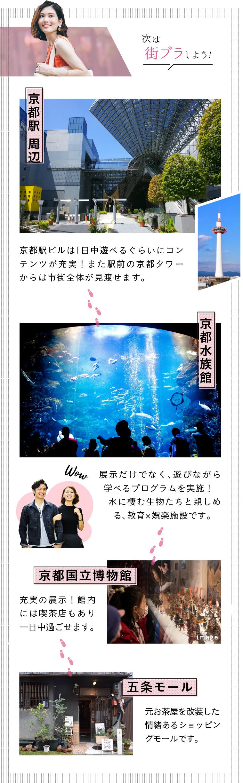 街ブラしよう!京都水族館、京都国立博物館、五条モール