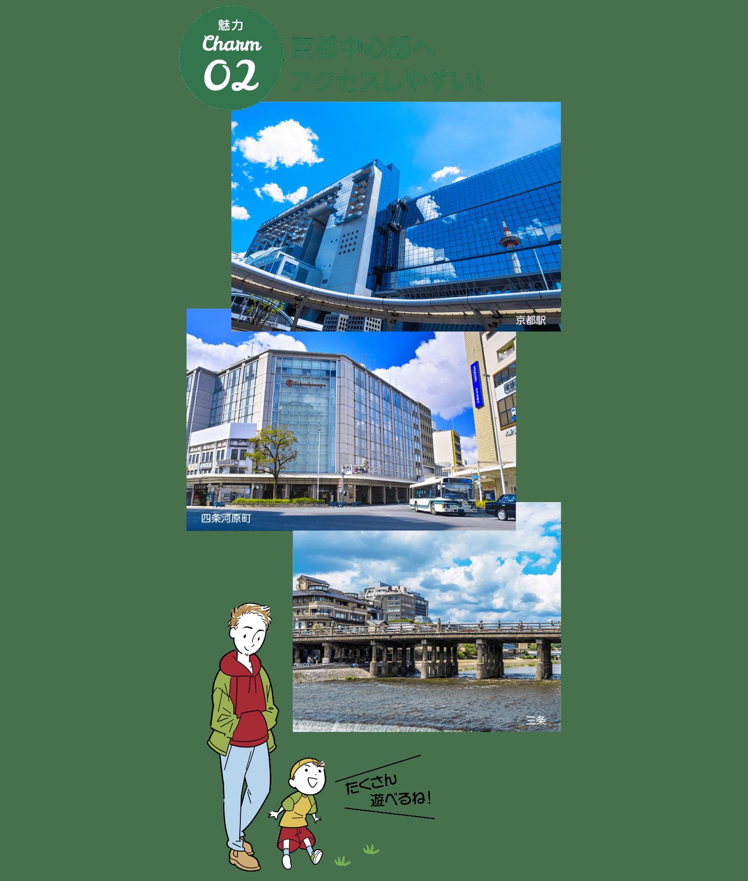 京都中心部へアクセスしやすい!